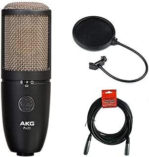 AKG Project Studio P420 多式大隔膜电容麦克风,带波动过滤器和 20 英尺 XLR 电缆
