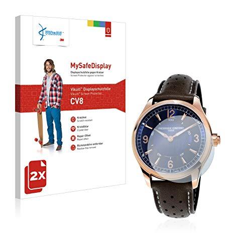 Vikuiti 2X Displayschutzfolie CV8 von 3M kompatibel mit Frédérique Constant Horological Smartwatch Schutzfolie Folie