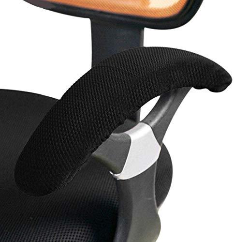 HUO 1 Par De Sillas Cubiertas De Reposabrazos para La Oficina Rotating Sillón Subgerente Silla Extraíble Brazo Resto Cubiertas Negro