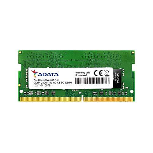 ADATA Premier DDR4 2400MHz 4GB SODIMM Memory Module RAM for Notebooks (AD4S2400J4G17-R)