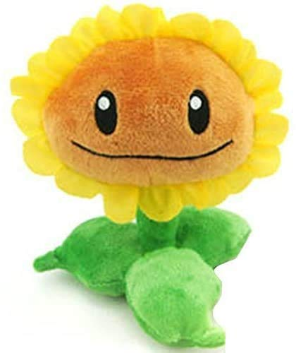 Plants vs Zombies Sunflower Plush Figure Staff Toy Soft Doll