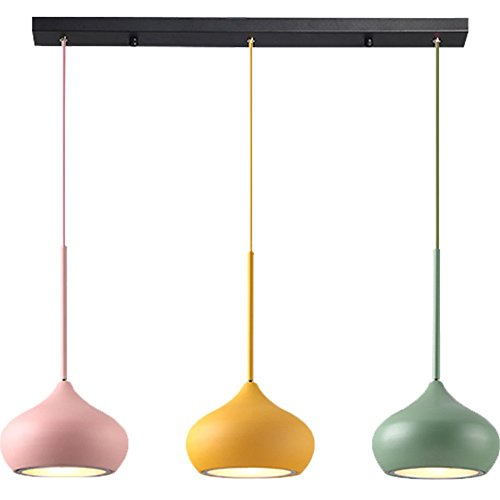 5151BuyWorld Ledlamp, voor eetkamer, macarons, modern, eenvoudige hanger, kleurrijke lampen, creatief, droplight, kinderen, hoogwaardig.