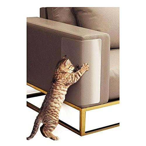 Unmbo Selbstklebend Kratzfest Klebeband Transparent, Hohe Qualität Flexibel Vinyl Kratzschutz Couch Möbelschutz Haustier Scratch Protector Für Schützen Sie Ihre Polstermöbel- L (2Stck)