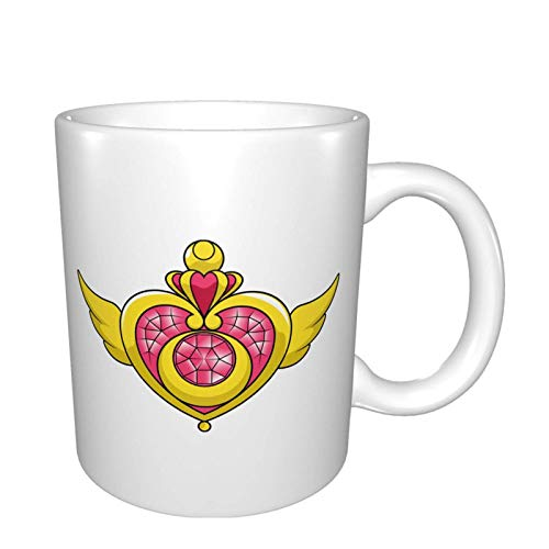 Sa-ilor Mo-on Brooch Logo Mugs Home Office Coffee Cup Suitable for Tea, Cocoa, Cereals