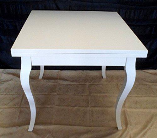 Legno&Design Table carrée extensible blanc laqué