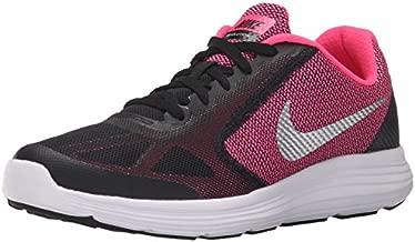 NIKE Girls' Revolution 3 Running Shoe (GS), Black/Metallic Silver/Hyper Pink/White, 7 M US Big Kid