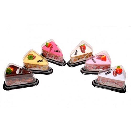 Lote de 24 Toallas En Forma De Porción - Detalles Bodas Originales - Toallas con formas Pasteles, Cupcake, Porción de Pastel. Regalos, Detalles y Recuerdos Originales Bodas, Bautizos, Comuniones