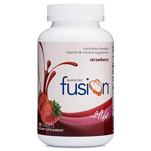 Bariatric Fusion Tropical Complete Chewable Bariatric Multivitamin For Bariatric Surgery Patients Including Gastric Bypass and Sleeve Gastrectomy, 120 Tablets