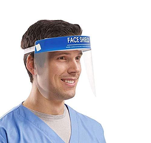 Lumiereholic Sicherheitsgesichtsschutz Gesichtsschutz Gesichtsschutzschirm Verstellbarer Vollgesichtsschutz Anti-Staub-Schutz mit einem Elastischen Schutzfolienband und einem Komfortschwamm