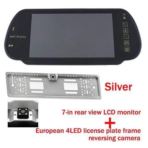 GOFORJUMP 7 Pouces Couleur TFT LCD MP5 Moniteur de rétroviseur arrière de Voiture Moniteur de stationnement Automatique de véhicule Moniteur de rétroviseur SD/USB Radio FM avec caméra arrière