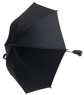 Sombrilla universal para cochecito de bebé, color negro