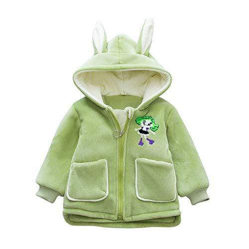 Bestyyo Baby Mantel, Kinder Winter Warm Cartoon Kaninchen Mädchen Reißverschluss...