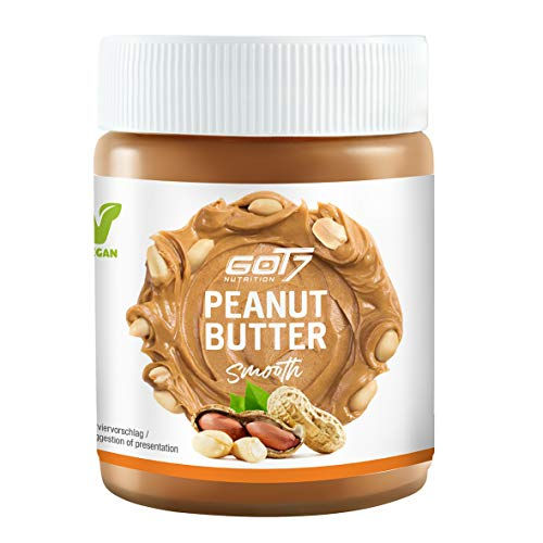 Got7 Burro di arachidi Smooth, 100% burro di peanut da 500 g, senza zuccheri aggiunti, senza glutine e senza grassi di palma, senza aggiunta di zucchero, vegano e consistenza morbida