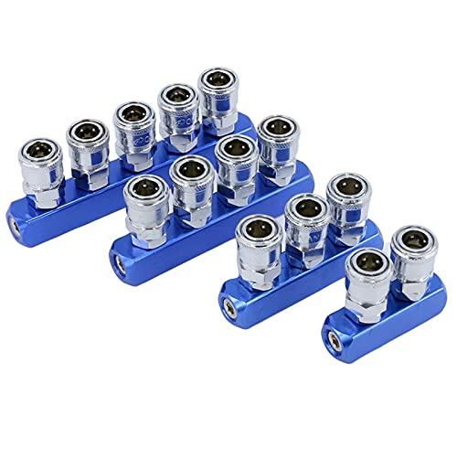 SHUJINGNCE Conector de Enchufe rápido neumático de Tipo C-Tipo C: Conector de compresor de Aire SMY Air Bomba de Aire SMV Redonda Conector de Tres vías (Color : Air Divider 4)