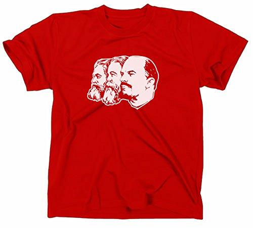 Marx Engels Lenin T-Shirt, ddr, fdj, ostalgie, rot, M