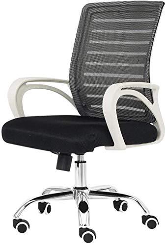 Xiuyun - Silla de oficina moderna, sencillez ascensor, rotación para casa, silla de ordenador, silla de oficina de doble capa, permeable al aire de malla, resistente al cansancio de 150 kg blanco