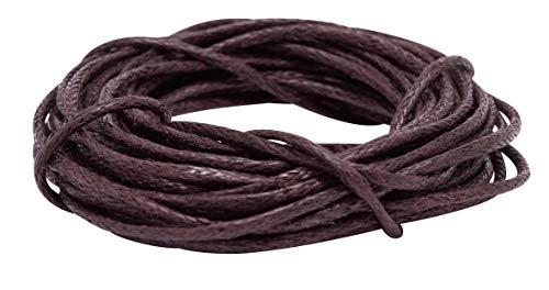 Cordelette en coton, Ø 1 mm, 3 m Braun