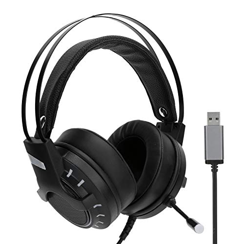 Gaming Headphones Headset Convenient to Use Lifelike Unique Design Plug and Play Games PC for Home Desktop