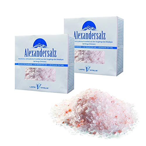 Lapis Vitalis, Alexandersalz, Himalaya Salz grob (2-5 mm) 2 kg - 2x 1kg Karton