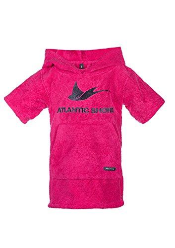 Atlantic Shore | Surf Poncho ➤ Bademantel/Umziehhilfe aus hochwertiger Baumwolle ➤ für Kids/Kinder ➤ Pink - Short