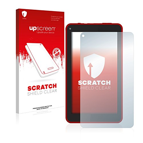 upscreen Schutzfolie kompatibel mit Logicom L-ement Tab 744P – Kristallklar, Kratzschutz, Anti-Fingerprint
