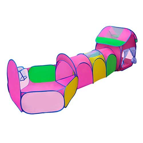 Juego Tienda Campaña Bolas Túnel Tubo Rastreo Portátil Para Niños Casa Interior Al Aire Libre Patio Picnic Playa Ejercicio Feliz Regalo Vacaciones
