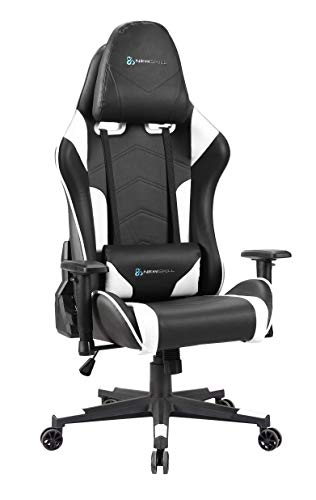 Newskill Kitsune - Silla gaming profesional (inclinación y altura regulable, reposabrazos 2d ajustables, base en nylon, reclinable 180º), Color Blanca. ⭐