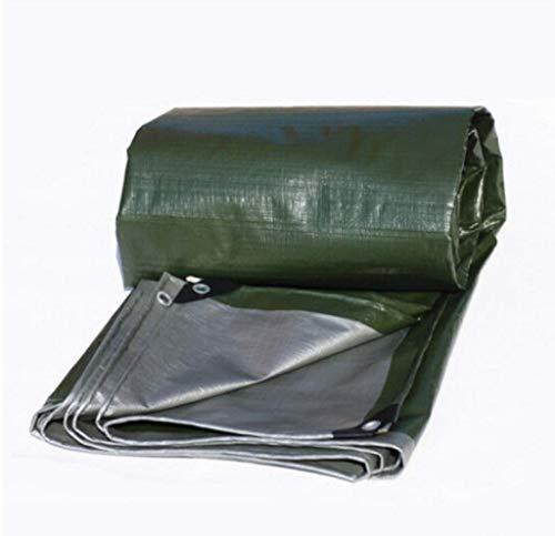 WTT regendichte doek, waterdichte externe zonnebrandcrème verdikte tafelzeil lampenkap vrachtwagen doek plastic doek bladerdek 5 meter x 10 meter (afmetingen: 5x8 m)