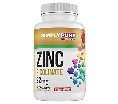 Zinc Picolinate 22mg - 1 Year Supply (365 Tablets)