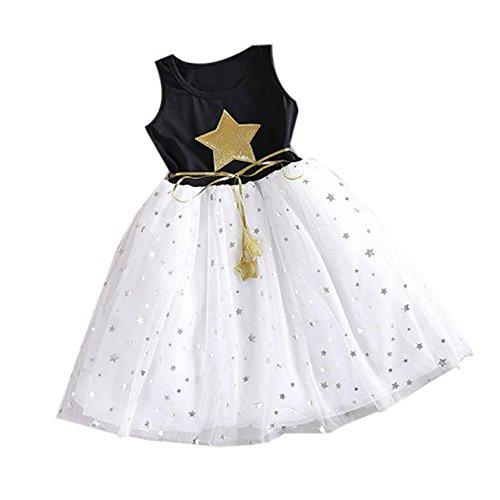 K-youth Vestido Niñas, Lindo Vestidos de Fiesta para niñas Patrón de Estrella...