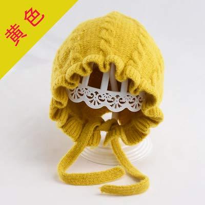geiqianjiumai Kinder hoed baby ruches gebreide oorkappen baby warme wol pet prinses twist cap