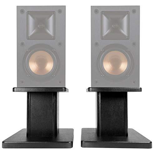 Best Prices! (2) 8 Black Bookshelf Speaker Stands for Klipsch R-14M Bookshelf Speakers