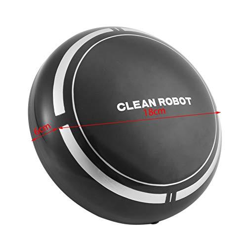 wwwl Robot de Barrido Robot De Limpieza De Madera Inteligente, USB Recargable, Mini Máquina De Limpieza Robótica, Aspiradora, Limpiador De Polvo, Robot De Limpieza De Madera Plano