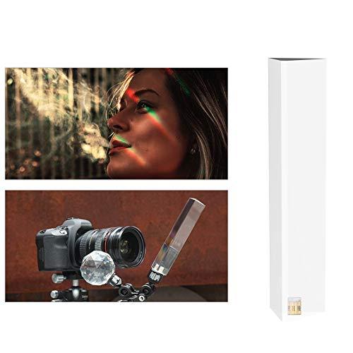 Selens Fotografie kristallen kubus Prisma met 1/4 inch schroefgat, 50 mm professionele look kristal glazen kubus, maak een lichte regenboogeffect voor camera-objectief, voor fotografen