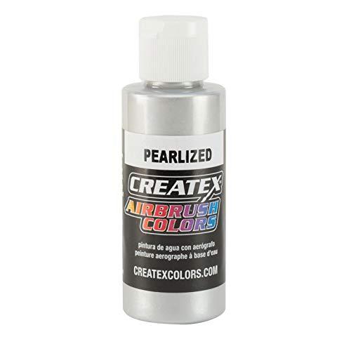Createx - Pintura (60ml), Color Plata nacarado
