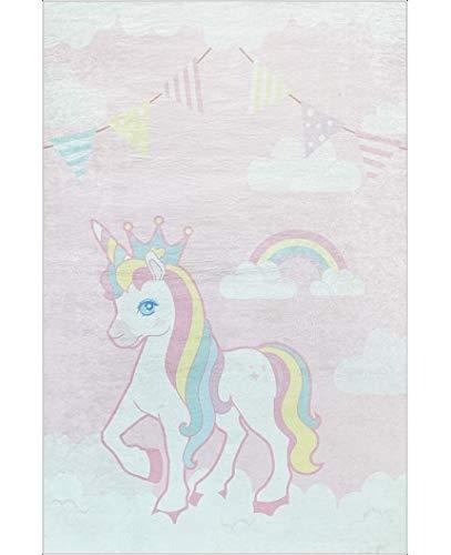 Mani Textile - Tapis Enfant Licorne Dimensions - 120x180