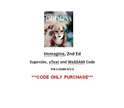 Immagina 2nd Supersite, vText and WebSAM Code ***CODE ONLY***