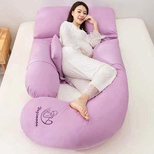 XJZM Almohada de apoyo de maternidad en forma de G Almohada de embarazo suave almohada de apoyo de cuerpo entero almohada ajustable cojín de apoyo y lavable extraíble (color: J)