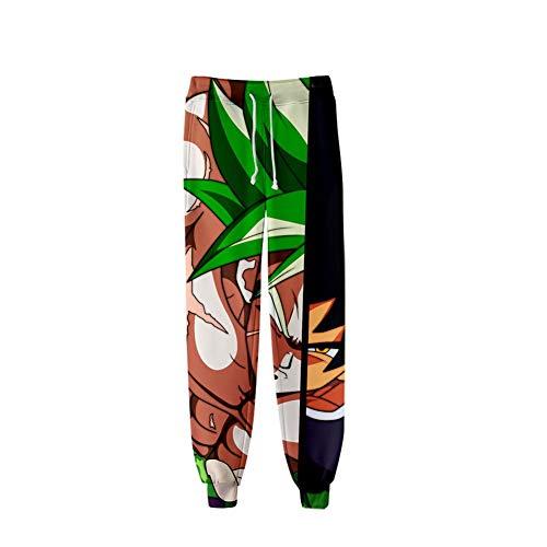 CRBTA Sweatpants Bola de Dragón 3D Unisex Anime Hombres Pantalones Deportivos Pantalones Deportivos Pantalones Deportivos Pantalones de Ocio Joggers Streetwear-XL