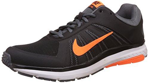Nike Dart 12 MSL Zapatillas de correr para hombre - Running, 9.5, NEGRO/ANARANJADO/GRIS (BLACK/ORANGE/GREY)