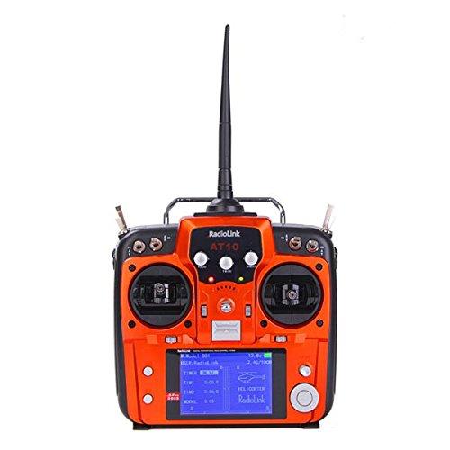 ZHFENG Radiolink AT10 2.4G 10CH Transmisor con Receptor R10D Modo Naranja 1 Accesorios Herramientas de Bricolaje