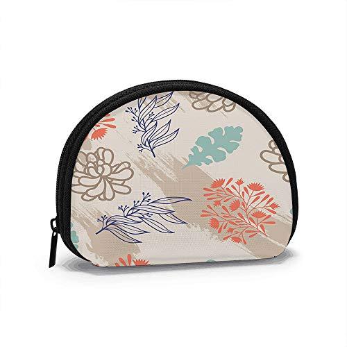 Bufanda de Seda Colorida diseño Floral Elemento Mujeres niñas Shell cosmético Maquillaje Bolsa de Almacenamiento Compras al Aire Libre Monedero Organizador de Cartera