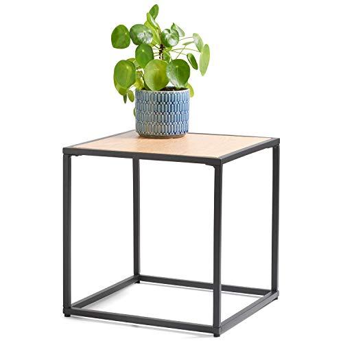 DAY - USEFUL EVERYDAY Designer bijzettafel, woonkamertafel Scandinavisch design van MDF met PVC folie 35x35cm
