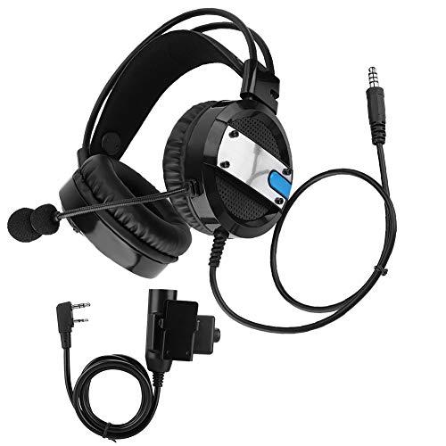 Tosuny Auricolare Radio Adatto per Baofeng 888S 5RE 5R UV-82, Auricolare Radio walkie-Talkie antirumore Regolabile Portatile con Pulsante PTT Adatto per Baofeng