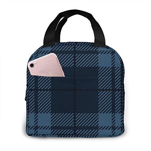 Bolsa de picnic con aislamiento de tartán escocesa para hombres, mujeres, ideal para el trabajo, la escuela