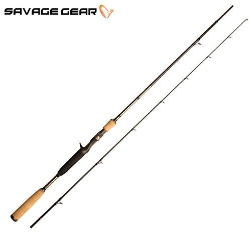 Savage Gear Butch Light XLNT2 205cm 15-42g - Spinnrute für Wobbler, Spinnangelrute mit Triggergriff, Angelrute für Hecht, Barsch & Zander