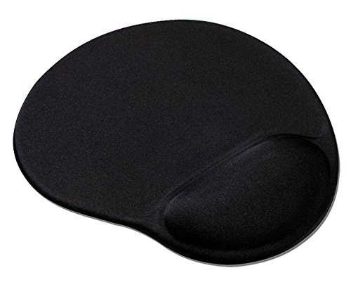 Speedlink VELLU Gel Mauspad ergonomisch und handgelenkschonend mit Gelkissen für PC/Notebook/Laptop, schwarz