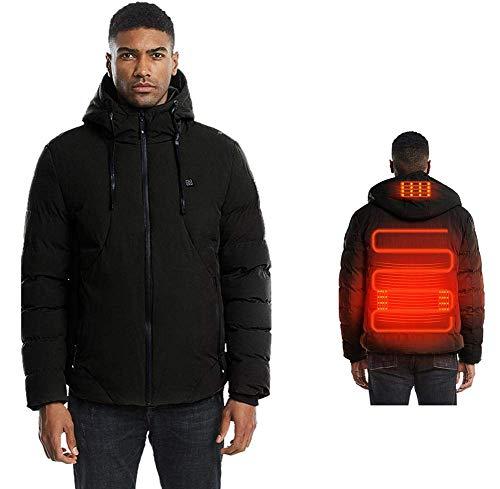 cuckoo-X Elektrische Jacke beheizt Mantel, Männer waschbar beheizte Kleidung Weste, USB wiederaufladbare Heizung Body Warmer Gilet mit 3 Temperatur für Skifahren im Freien, Wandern(Keine Batterie)