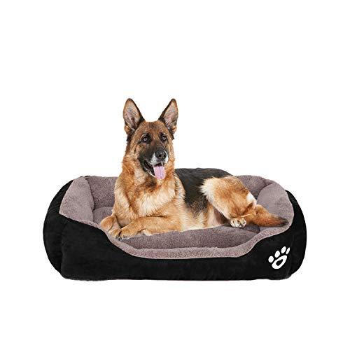 FRISTONE Waschbar Hundebett für kleine und große Hunde Hundekorb Weich 2XL Schwarz