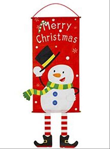 YMKCMC Decoración Navideña Decoraciones Navideñas para El Hogar Decoración De Puertas Adornos Colgantes Navideños Paño para Colgar Ventanas Regalos Navideños ProductosAzul Profundo